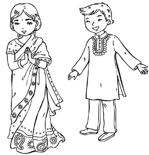 indian girl coloring page indian girl radiokothacom