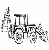 Coloring Backhoe Loader Digger Pages Truck Excavator Peterbilt Tonka Construction Drawing Printable Hoe Dump Print Outline Sketch Clipart Template Trucks sketch template