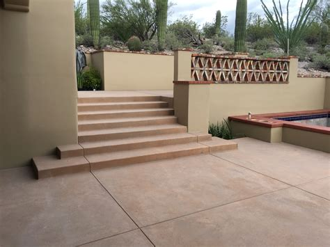 colored concrete colored concrete patio and pool coping optimum concrete llc