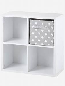 Meuble De Rangement Case : meuble de rangement 4 cases blanc vertbaudet ~ Melissatoandfro.com Idées de Décoration