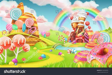 candyland background sweet land background 3d vector