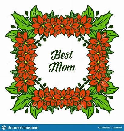 Frames Orange Poster Illustration Vector Mom Flower