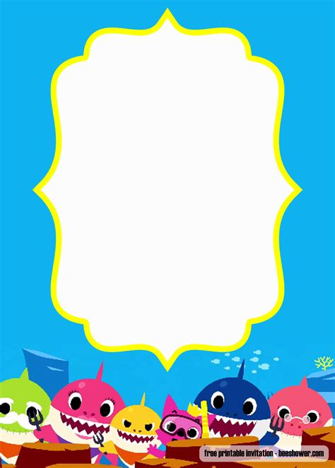 baby shark baby shower invitation templates update