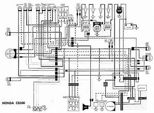 Honda Cb500 Electrical Wiring Diagram  59360