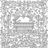 Coloring Pages Garden Gazebo Adults Template sketch template