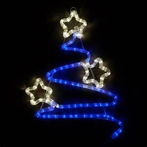 "Outdoor Decoration - 20"" LED Swirl Christmas Tree, Blue ..."