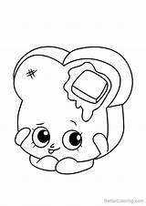Shopkins Coloring Pages Bread Draw Drawing Toastie Step Printable Adults Tutorials Tutorial Getdrawings sketch template
