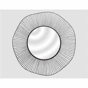 Miroir Metal Noir : miroir l g ret m tal noir 80 cm gr148c00 0 achat vente miroir sur ~ Teatrodelosmanantiales.com Idées de Décoration
