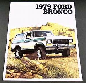 Purchase 1979 79 Ford Bronco Truck Brochure Ranger Xlt