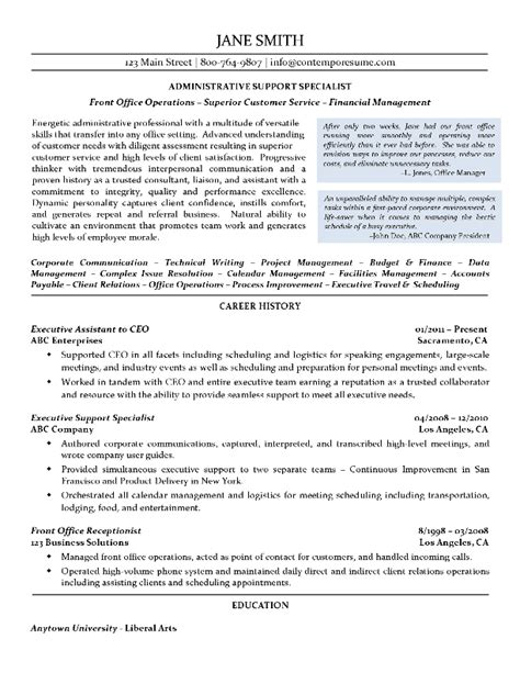 Support Assistant Resume Sle by Administrative Support Specialist Resume