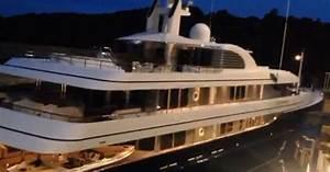 75m Superyacht Archimedes Departs From Bristol Harbour