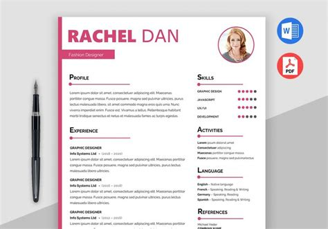 free creative resume template doc enrich free creative resume template doc maxresumes