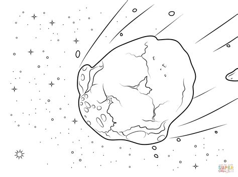 Watery asteroid coloring page   Free Printable Coloring Pages