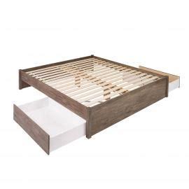 queen select  post platform bed   drawers prepac mfg