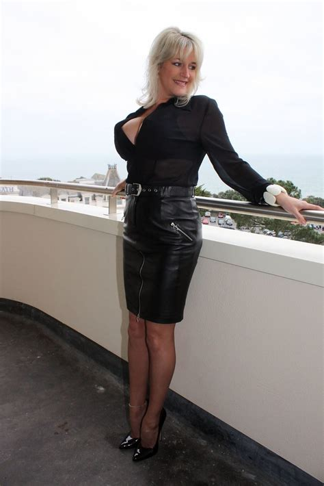 Hot Classy Super Blonde Milf With Massive Boobs In Pvc Sk