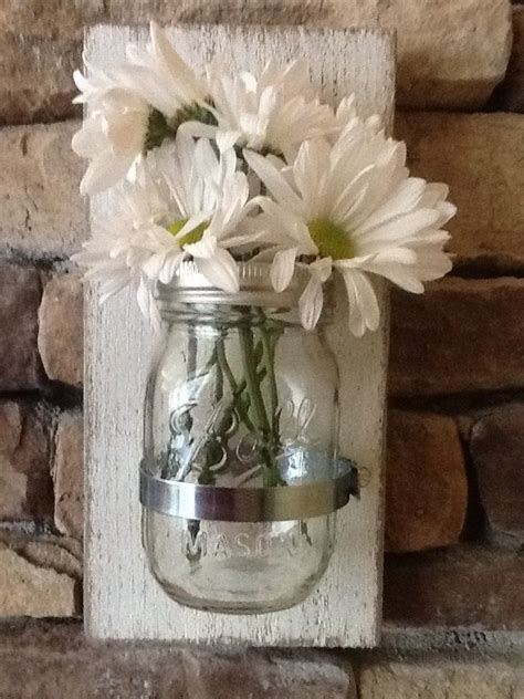 shabby chic decorative accessories mason jar wall sconce rustic or shabby chic decor for home or office interior decor ideas