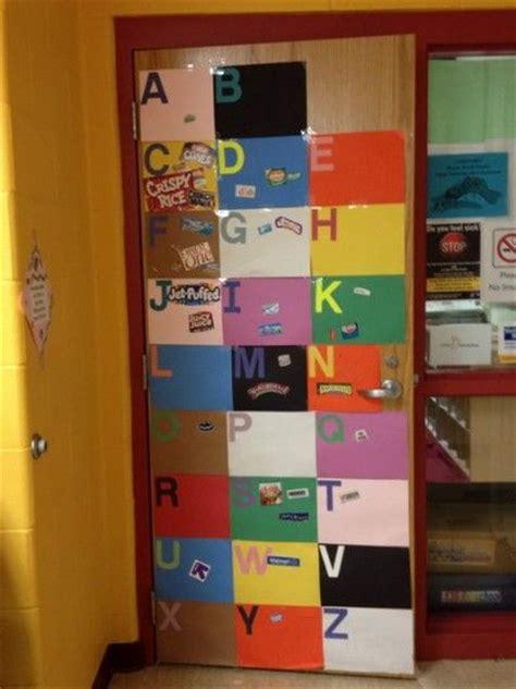 Kindergarten Door Decorating Ideas by Colorful Door In Preschool Classroom Wall Decorations
