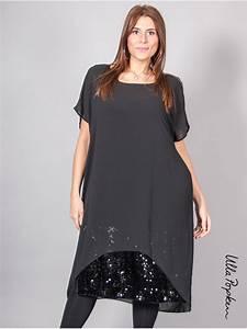 robe voile ulla popken noire 46 et plus With ulla popken robe