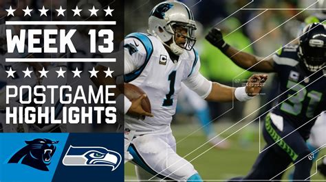 panthers  seahawks nfl week  game highlights youtube