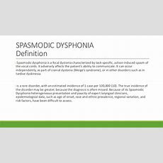 Oromandiular Dystonia And Spasmodic Dysphonia