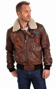 Blouson Cuir Aviateur Homme : blouson aviateur mythic marron daytona la canadienne ~ Dallasstarsshop.com Idées de Décoration