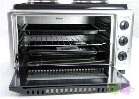 mini backofen mit grill simeo qf550 four 2 plaques mini backofen mit herdplatten grill pizzaofen ebay
