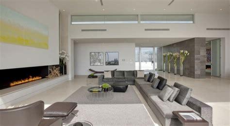 canape d angle tissus gris décoration et design du salon moderne en 107 idées superbes