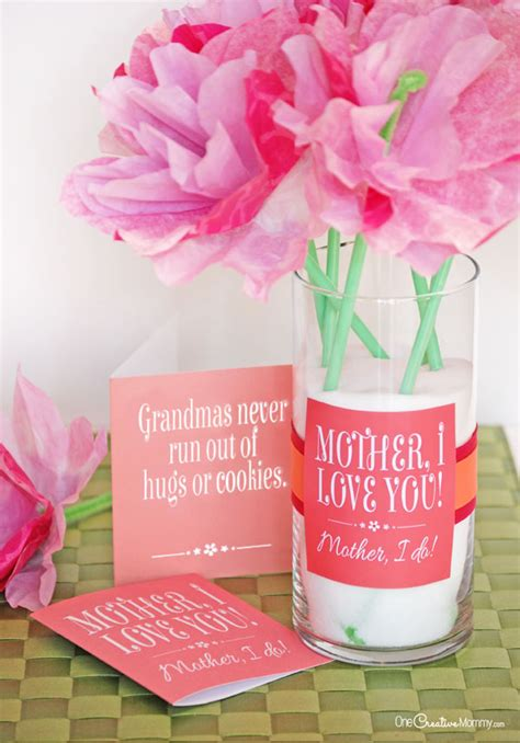 cute mothers day gift idea  printables