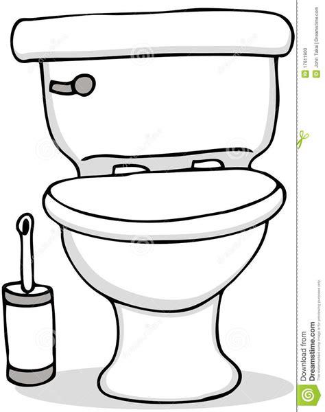 comment dessiner des toilettes balai de toilette et de nettoyage illustration de vecteur illustration du commode blanc 17611900
