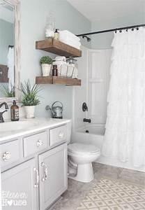 sherwin williams sea salt shown in a bathroom with a lot With sea salt paint bathroom