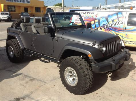 jeep sahara matte black jeep sahara matte black wrap from miami signs and graphics
