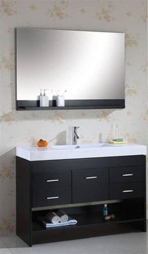 single sink vanity  espresso finish