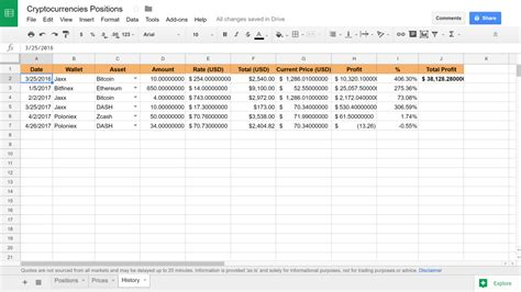 cryptocurrency investment tracking spreadsheet  update