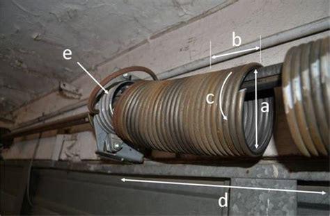 ressort de porte de garage installation thermique ressort de torsion porte sectionnelle hormann
