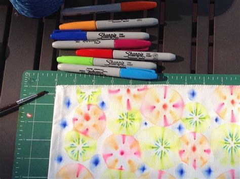 Decorating Fabric With Sharpies by Design Your Own Fabric Easy Tutorial