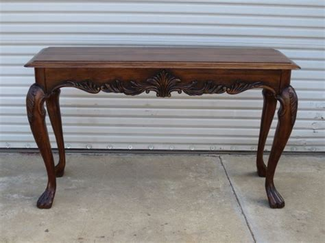 American Sofa Table Walnut Console Table Vintage Furniture