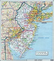 Laminated Map - Large detailed roads and highways map of ...