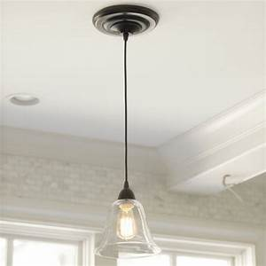 Glass pendant shade adapter recessed can light