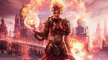 Gathering Magic Card Chandra Defiance Torch Fantasy