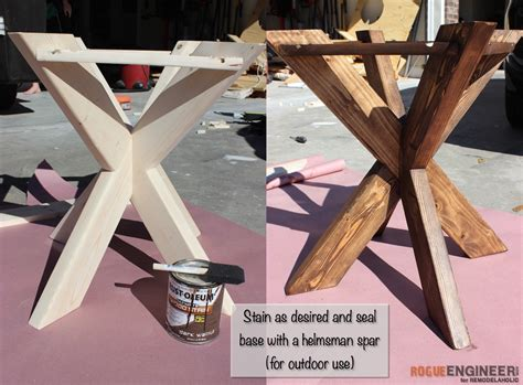 how to build an outdoor side table remodelaholic build it x brace concrete side table