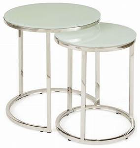 White glass nesting tables contemporary coffee table for White nesting coffee table