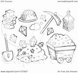 Mining Clipart Mine Gold Items Outlined Illustration Vector Royalty Coloring Pages Template Visekart Background Clipartpanda Templates Powerpoint sketch template