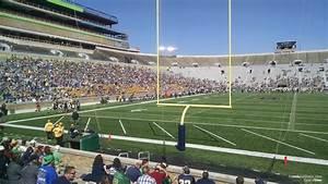 Notre Dame Stadium Row Chart Notre Dame Stadium Section 18 Rateyourseats Com