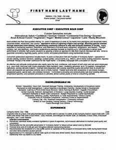 executive chef resume template premium resume samples With executive chef resume template