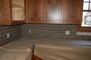installing subway tile backsplash in kitchen interior simple design glass subway tile backsplash install glass and oak wood kitchen