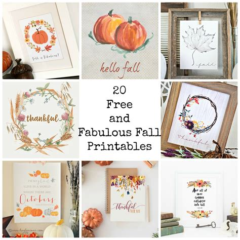 20 Free And Fabulous Fall Printables  Organized Squirrel