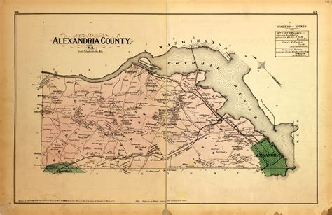 1879 Map of Alexandria County Ghosts of DC