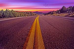 Road Descending Into Sunrise Sunset Free Stock Photo ...