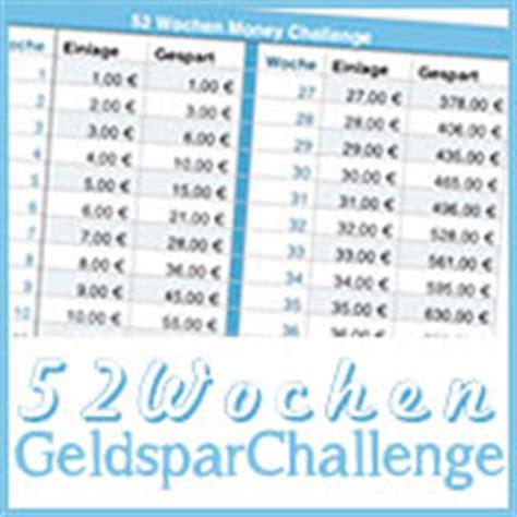 wochen geldspar challenge update beas