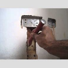How To Fit A Flush Double Metal Back Box And Double Socket Into A Solid Brick Wall Youtube